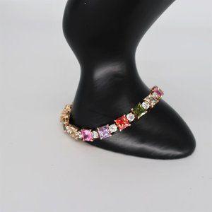 Sterling Swarovski Prong Set Crystal Bracelet